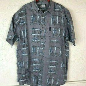 Columbia Swordfish Shirt Mens XL Fishing Print